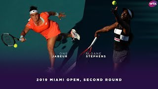 Ons Jabuer vs. Sloane Stephens | 2019 Miami Open Second Round | WTA Highlights thumbnail