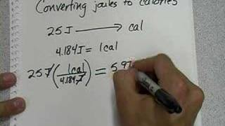 Joule and calorie conversions