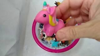 Impara gli animali della Fattoria in Acqua Zoo baby Wild Animals Unicorn in Water Learn Colors Kids