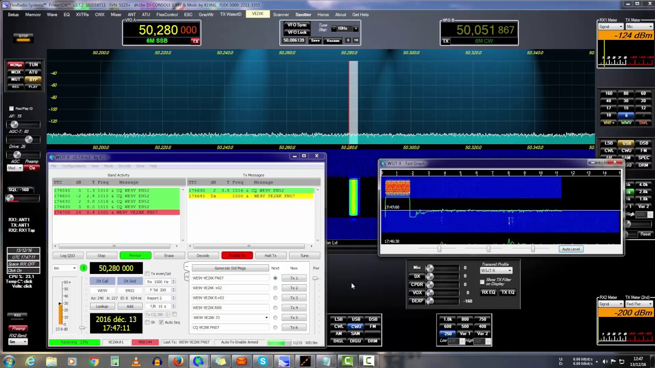 6M band meteor scatter qso with MSK144 mode - Видео онлайн