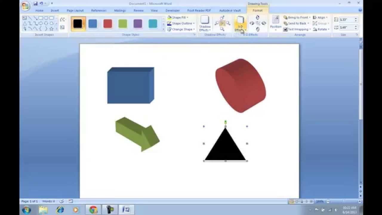 How to make 3d shapes in microsoft word youtube How to make 3d shapes