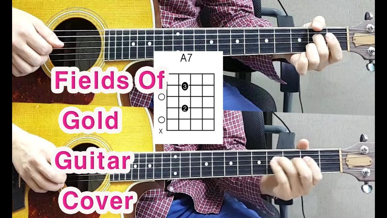 Sting Fields Of Gold Acoustic Guitar Coverchords Youtube