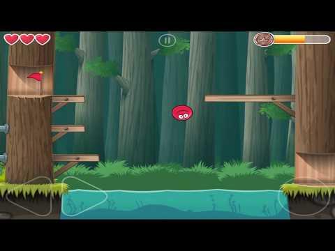 Red Ball 4 : Deep Forest - Level 25 - Walkthrough {Gameplay / HD}