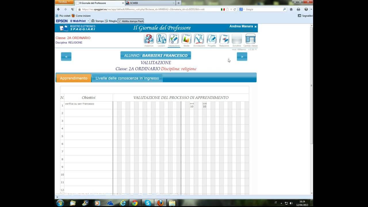 Registro elettronico SPAGGIARI su Mozilla Firefox - YouTube