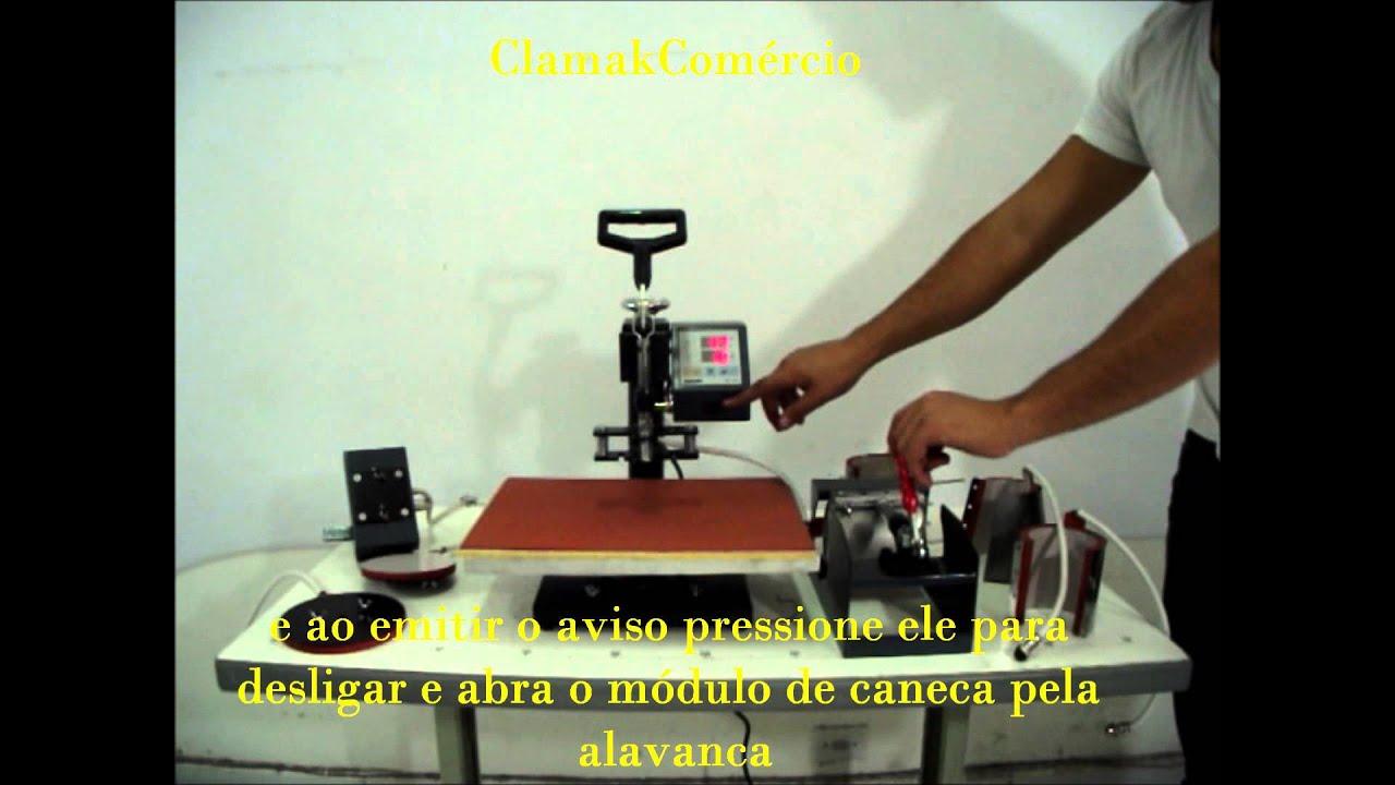 Prensa térmica 8 em 1 Sm- 8x1 Tranfer Multi Funcional Starmake  ClamakComércio 343ae950fa7bf