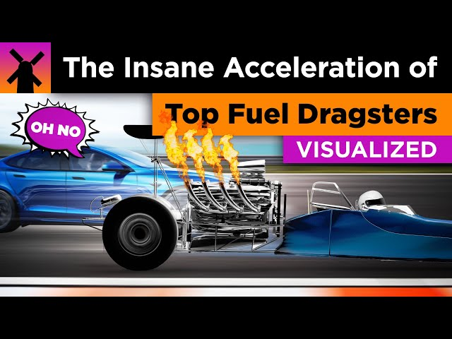 The Insane Acceleration of Top Fuel Dragsters Visualized
