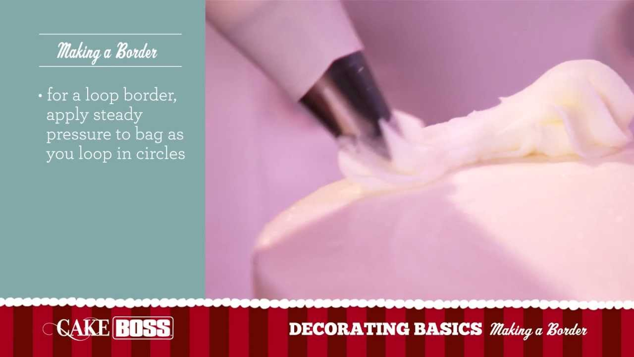 How To Use Cake Boss Decorating Tips : How To Make A Cake Border - Cake Decorating Ideas Part 1 ...