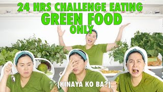 24 HOUR CHALLENGE EATING GREEN FOOD ONLY [MARIEL PADILLA]