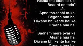 Badnam mere pyar ka - Anup Jalota - Ghazal -Full karaoke