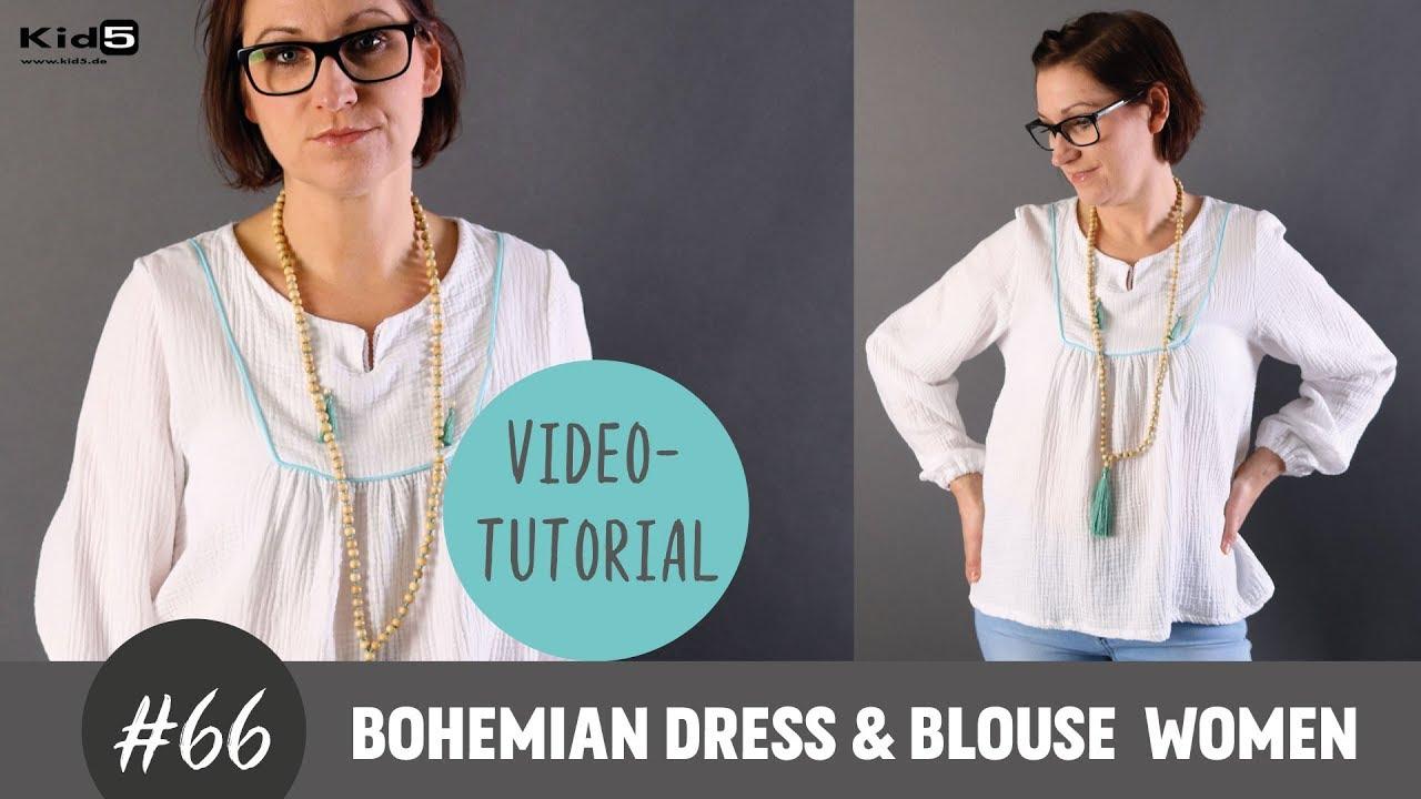 Eine tolle Boho-Bluse ganz einfach selber Nähen DIY-Näh-Tutorial ...