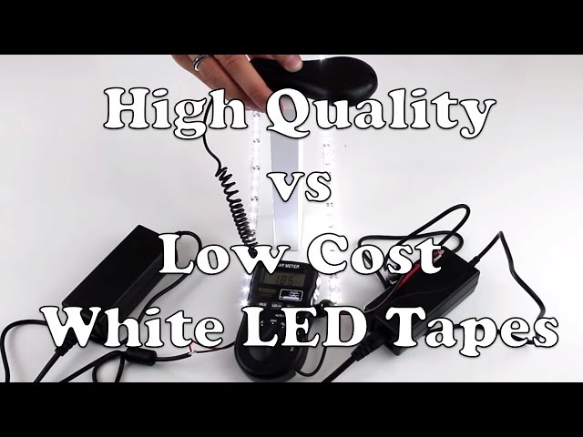 LED Strip Lights – High Quality vs Low Cost White LED Tape
