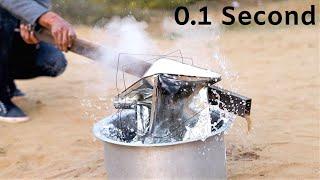 देखिए लोहे का पीपा 0.1 सेकंड में कैसे पिचका? Steel Can Crush in 0.1 Second Only |