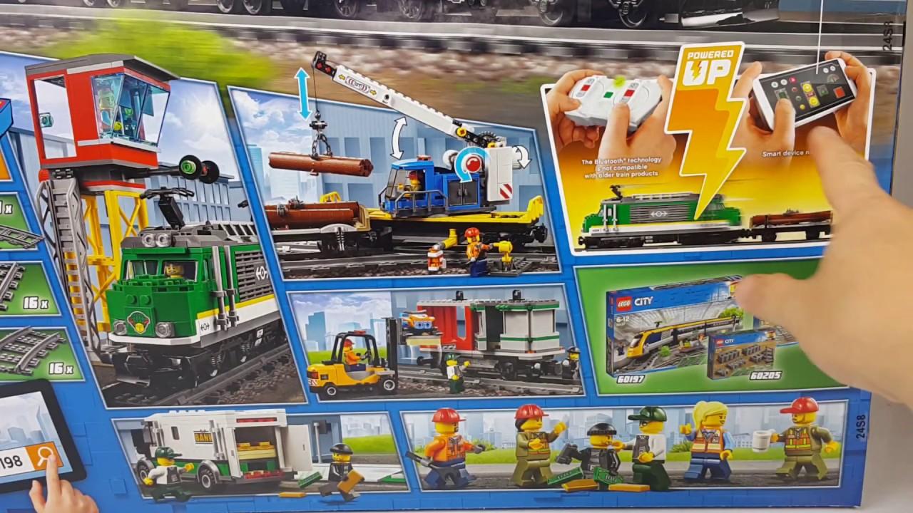 Unboxing Lego City 60198 Pociąg Towarowy Rafi Bricks Youtube