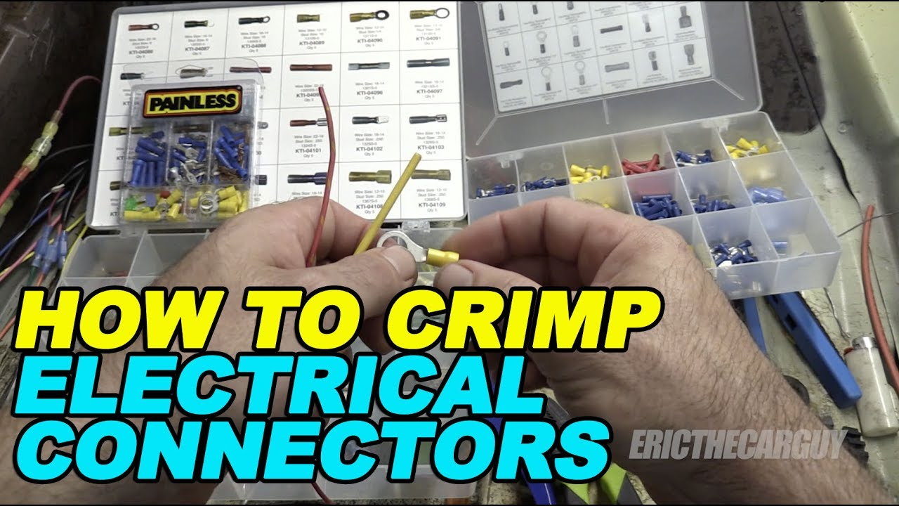 How To Crimp Electrical Connectors Youtube Automotive Multi Pin And More