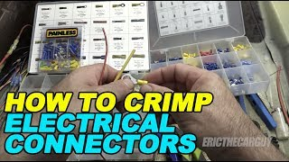 How To Crimp Electrical Connectors