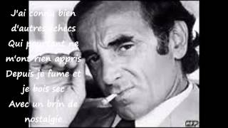 CHARLES AZNAVOUR - AVEC UN BRIN DE NOSTALGIE : paroles/lyrics et photos