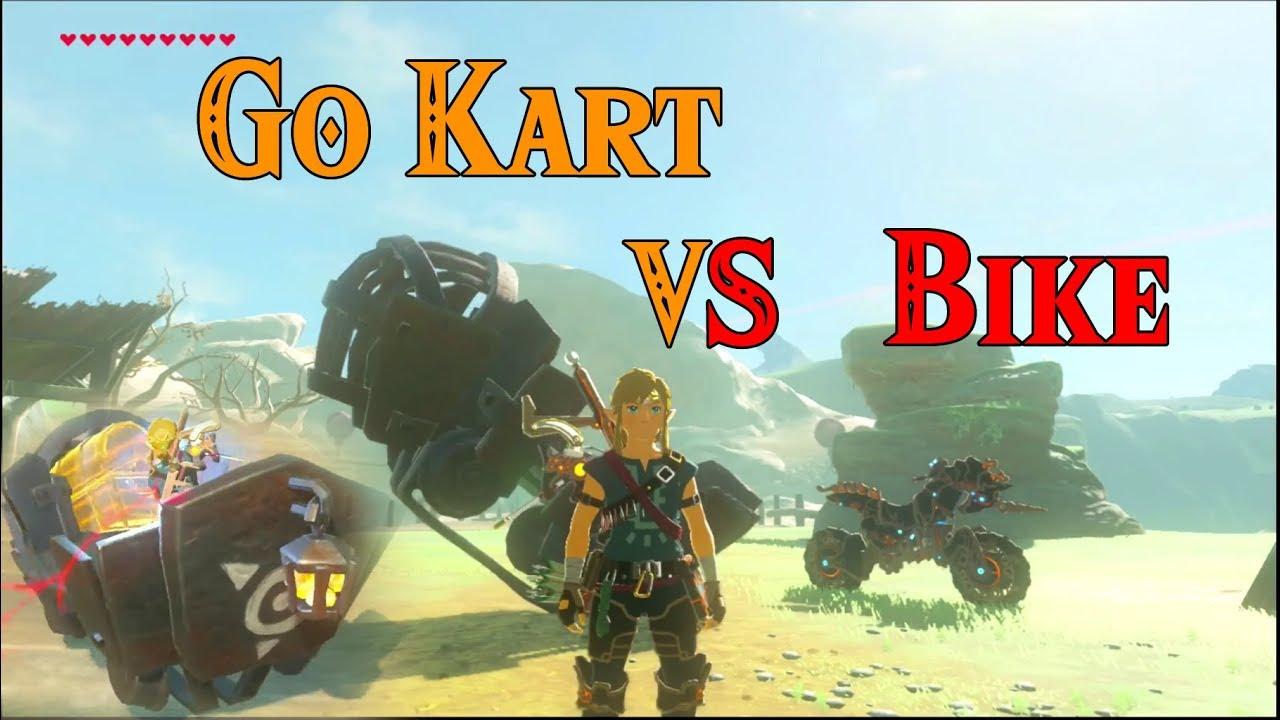 Zelda Breath Of The Wild Master Cycle: Go Kart Machine VS Master Cycle Zero! WASTED In Zelda