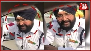 Traffic Police Caught Red-Handed By Manpreet Badal, Finance Minister For taking Bribe