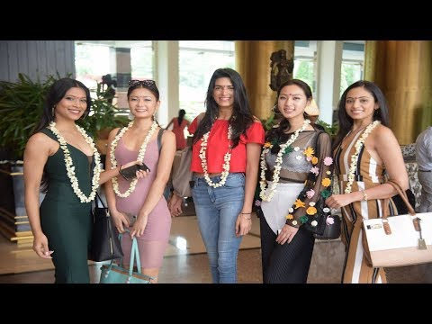 Miss India 2018 finalists receive a warm welcome at Renaissance Mumbai