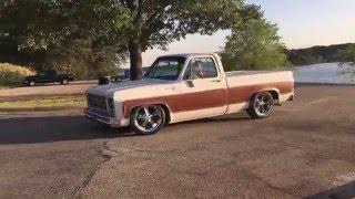"""1979 C10 Silverado, 20"""" wheels, custom suspension"""