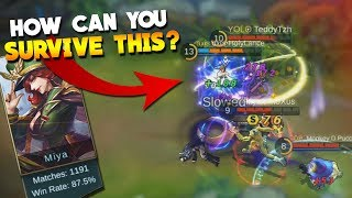 Best Miya Player in The World Doing The Impossible 1v4 Mobile Legends Gameplay