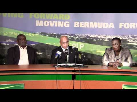 PLP Announce Candidate Vance Campbell Bermuda November 30 2011