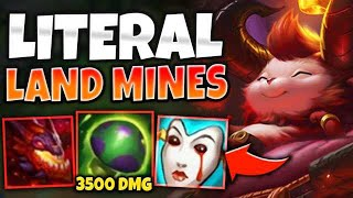 *HELLFIRE TEEMO* DON'T HIT A SHROOM OR YOU GET ONE SHOT! (3500 DAMAGE) - League of Legends