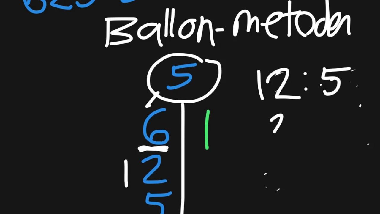 Division 2: Ballonmetoden