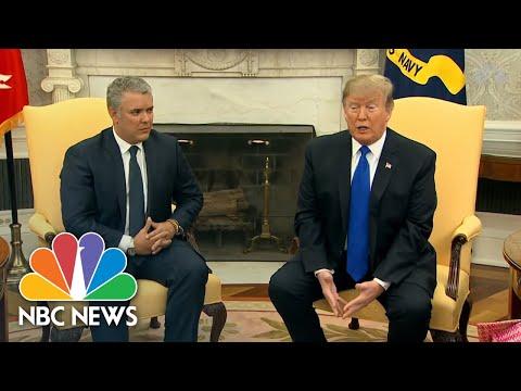 President Donald Trump Slams Venezuela's Refusal Of Food, Humanitarian Aid | NBC News