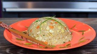 Жареный рис с яйцом и овощами | Eggs fried rice