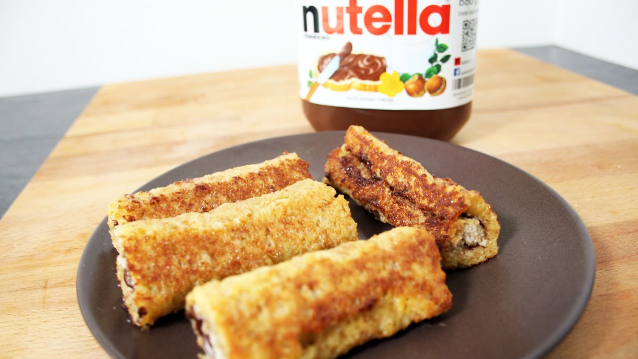recette des toast roll au nutella fastgoodcuisine youtube. Black Bedroom Furniture Sets. Home Design Ideas