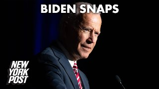 Biden snaps at reporter questioning his cognitive abilities: 'Are you a junkie?' | New York Post