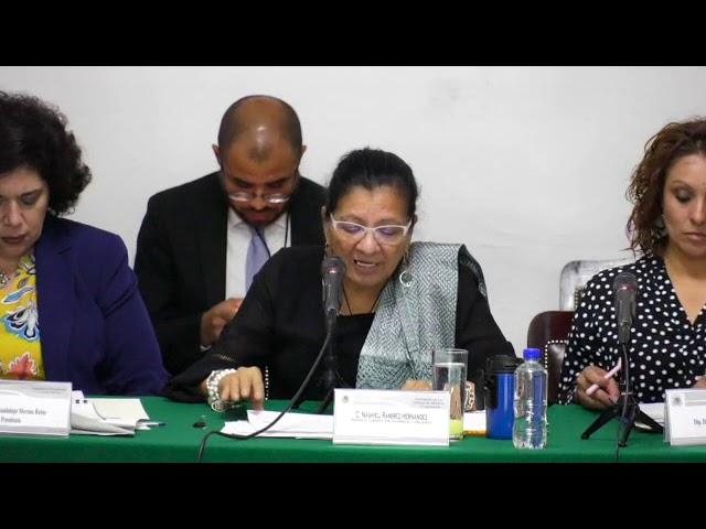 Discurso de la Presidenta de CDHCM, Nashieli Ramírez, en la Mesa de Trabajo