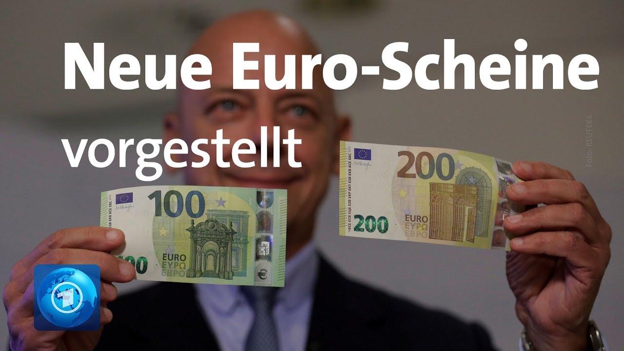 Neue 100 und 200 euro scheine vorgestellt youtube for Sitzkissen gunstig 1 euro