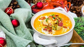 Lobster Chowder with Saffron and Tomatoes - Home & Family