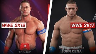 WWE 2K18 In-Game Renders Comparison: are they worse? (PS4 & Xbox One)