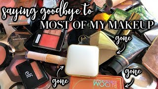 GOODBYE, huge makeup collection. HELLO, curated collection of faves