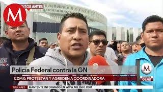 Así fue la protesta de Policías federales contra la Guardia Nacional