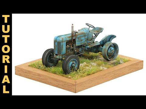 Abandoned Rusty Tractor / Tractor Abandonado Y Oxidado - Scale Modeling Tutorial