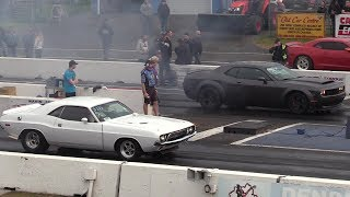 New muscle cars vs old muscle part 1-sound,top speed,drag races and burnouts