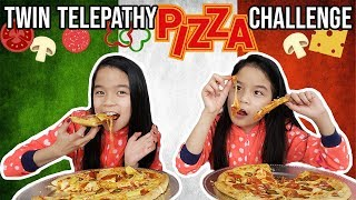 TWIN TELEPATHY PIZZA CHALLENGE!!
