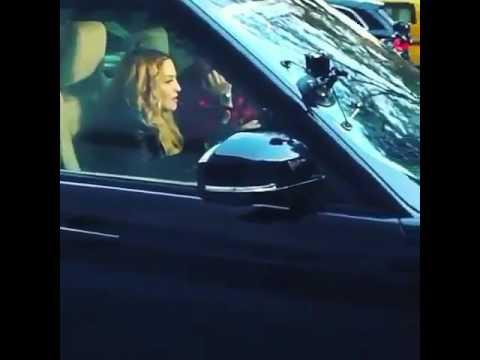 Madonna filming the Carpool Karaoke