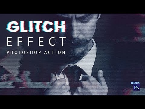 How to create VHS Glitch Effect - Photoshop Action