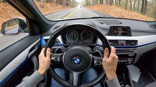 2017 BMW X1 28i xDrive - POV Test Drive by Tedward (Binaural Audio)