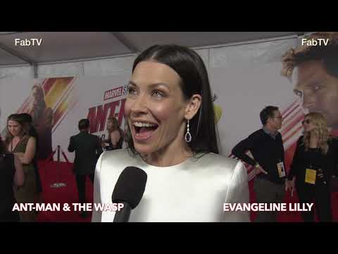 Evangeline Lilly at the Ant Man & WASP premiere on FabTV