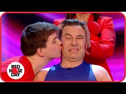 David Walliams's Guinness World Record kissing attempt