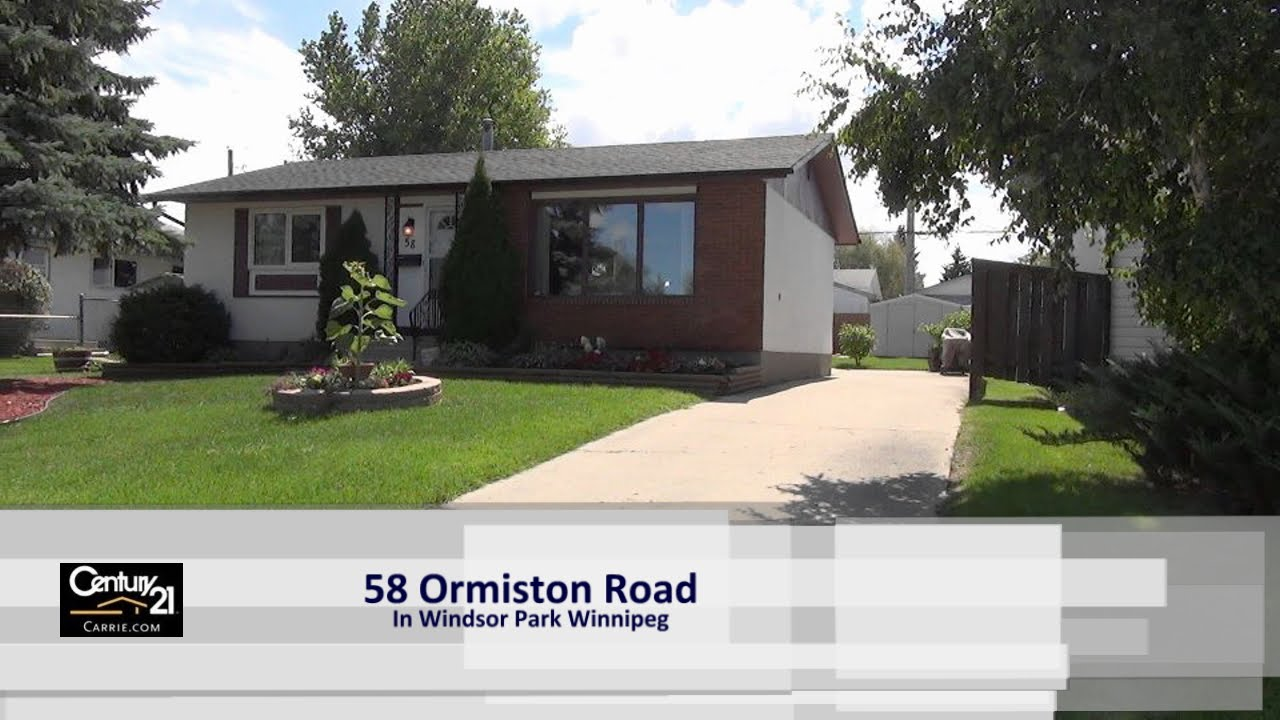 House For Sale At 58 Ormiston Road In Windsor Park Winnipeg