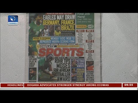 Rohr Tips Moses For African Footballer Award   Newspaper Review  