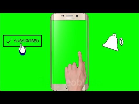 (No Copyright) Green Screen Hand, Mobile, Subscribe, Bell Intro