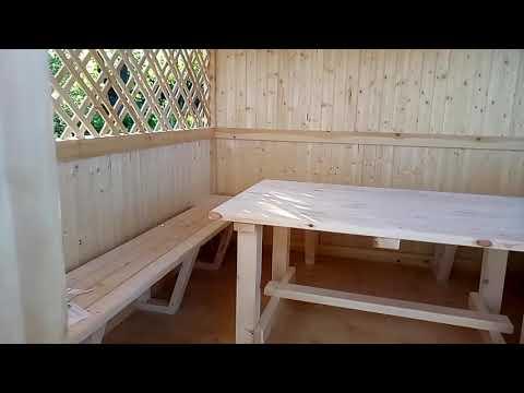 🍀Купить и заказать деревянную дачную беседку 3м*3м  под ключ в Туле
